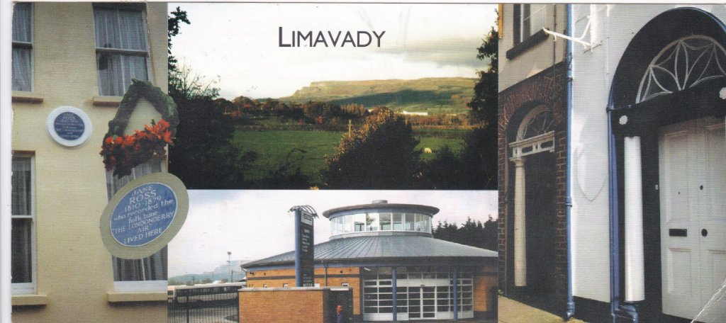 Card from Limavady in County Londonderry, Northern Ireland where I worked as a G.P. 1974-1976