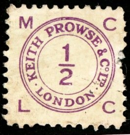 Keith Prowse stamp  ½d