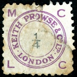Keith Prowse stamp ½d in manuscript