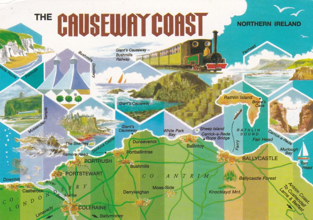 Card from Northern Ireland The Causeway Coast.