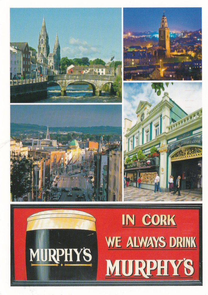 Card from myself from Cork  2019, on a pre-Covid cruise. I prefer Guinness as Murphys make me lie on my side too