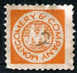 Montgomery & Co. stamp 2d