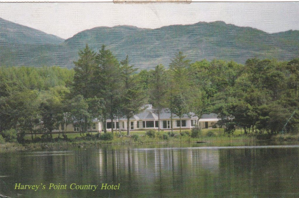 Card of Harvey's Point Country Hotel Co. Donegal from my sister on another attempted salmon fishing trip.