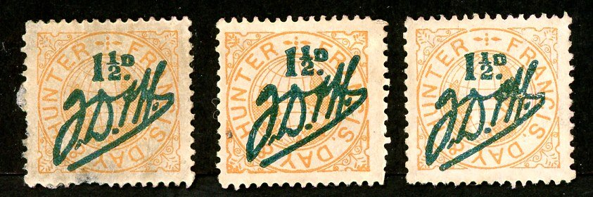 Francis, Day and Hunter stamps Set 020 B. 1 ½d