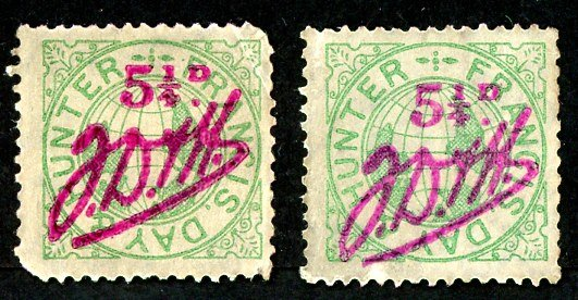 Francis, Day and Hunter stamp Set 020 B. 5 ¼d