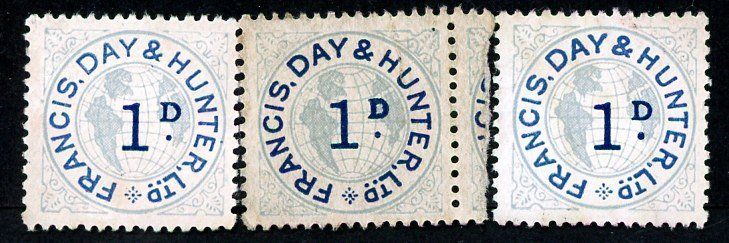 Francis, Day and Hunter stamps set 050 1d