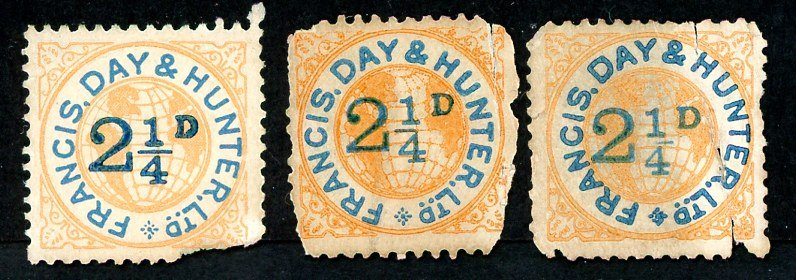 Francis, Day and Hunter stamps set 050 2 ¼d