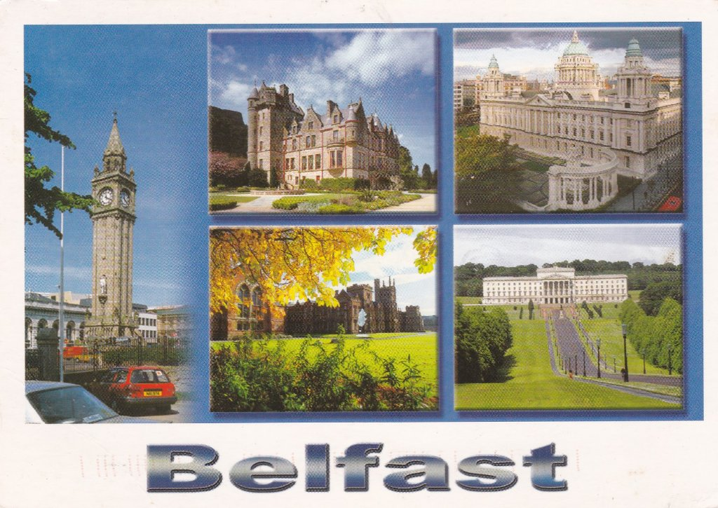 To follow a card from Ireland's capital, a card from Ulster's capital.