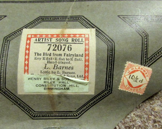 10 ½d J. H. Larway stamp on roll