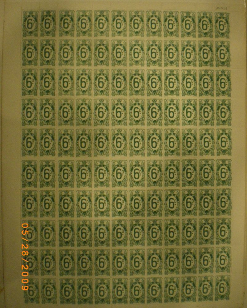 NZ railway charges 6d full sheet