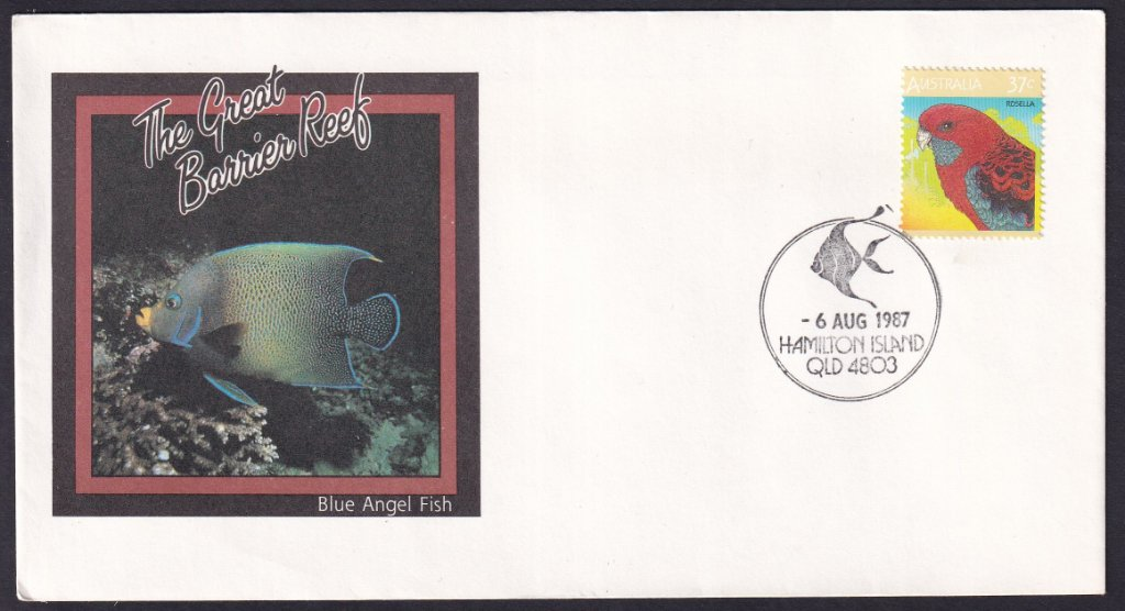 Great Barrier Reef Souvenir cover postmarked Hamilton Island - 6th August 1987.