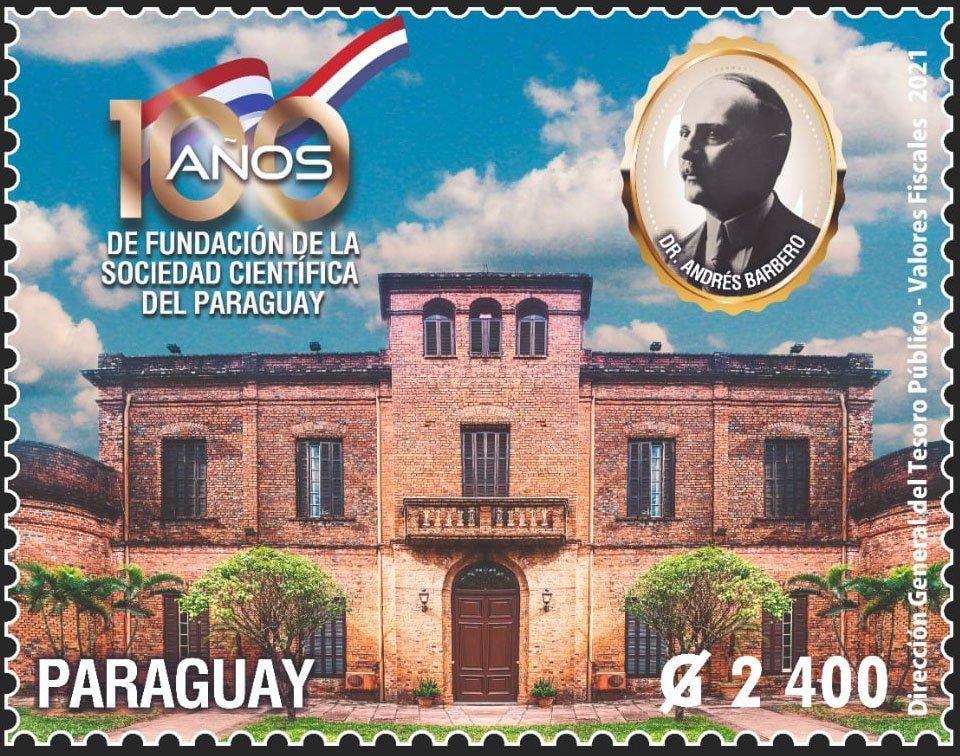 Centenary of the Scienctific Society of Paraguay Stamp, issued 9 Jan 2021