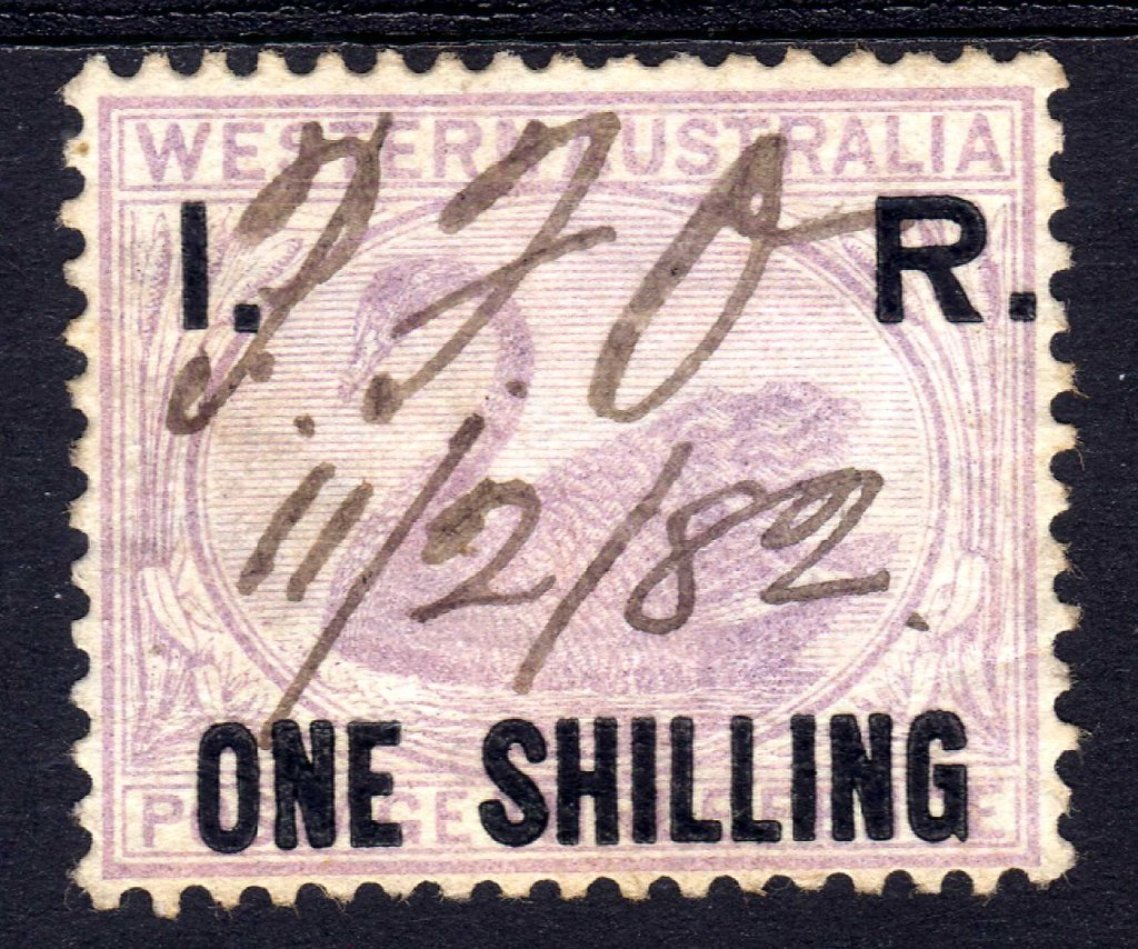 Western Australia 1881 One Shilling on Threepence revenue
