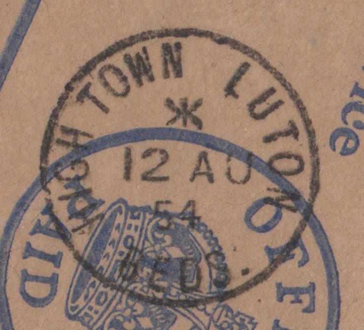 High Town Luton Bed(ford)s(hire) postmark 1954.