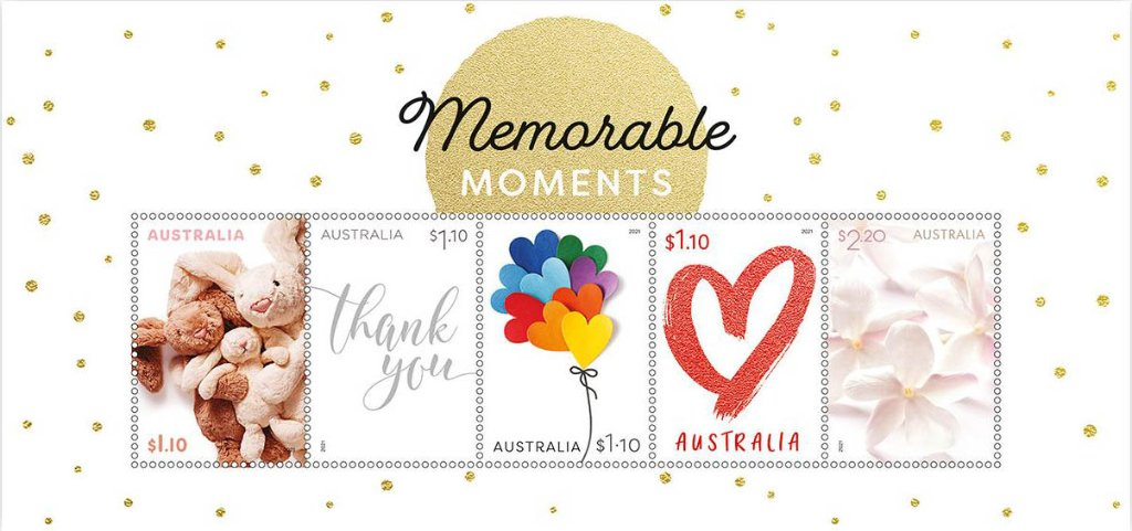 Memorable Moments Souvenir Sheet issued 25 January by Australia
