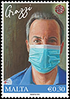 Malta Thank You To Health Care Workers Stamp issued 29 Jan 2021