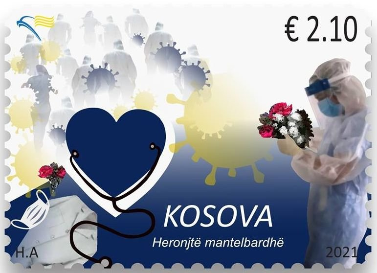"Kosovo Honors ""White Coat Heroes"" with stamp issued 28 Jan 2021"