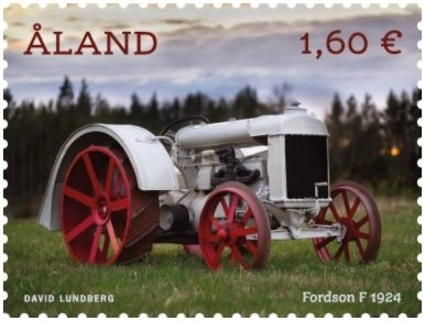 Antique Tractors on Aland's First 2021 stamp issue