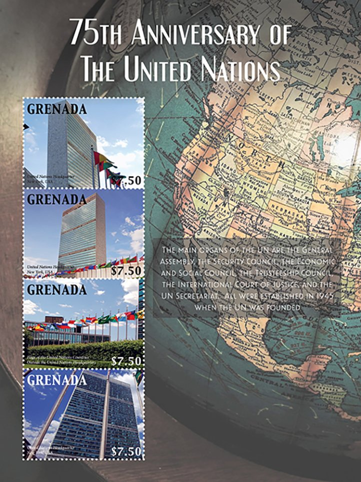 75th Anniversary of the United Nations issue release by IGPC in name of Grenada 28 Jan 2021