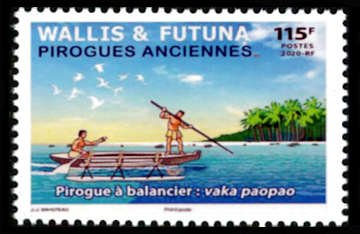 Traditional canoes feature on Wallis & Futuna's first 2021 stamps