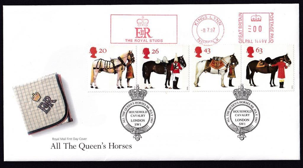GB FDC 1997 - Queens Horses - Kings Lynn 1B.jpg