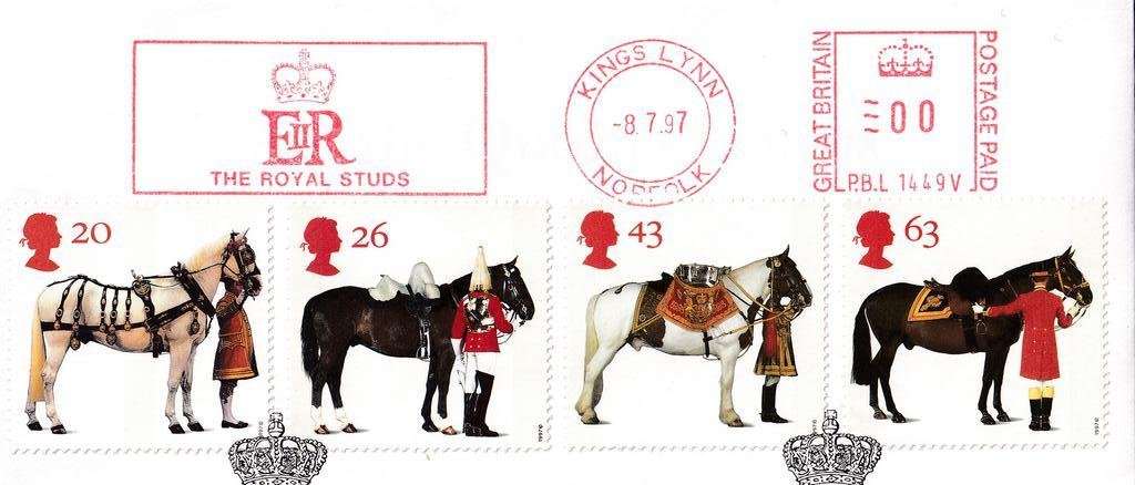 GB FDC 1997 - Queens Horses - Kings Lynn 2B.jpg