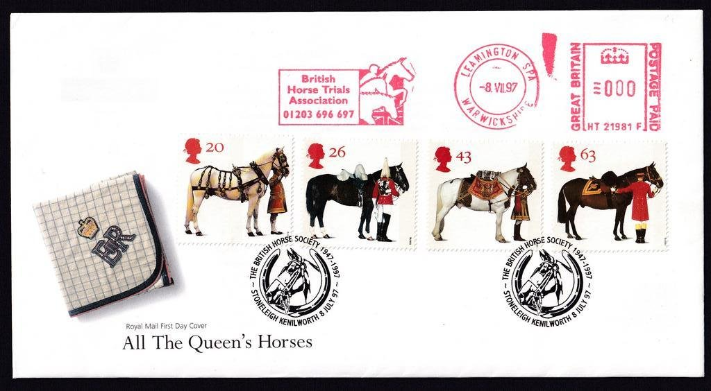 GB FDC 1997 - All The Queens Horses - Leamington Spa 1B.jpg