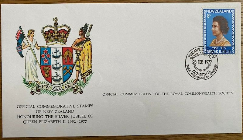 .<br />New Zealand, 1977: Special Commemorative Cover,<br />Silver Jubilee of reign of QEII
