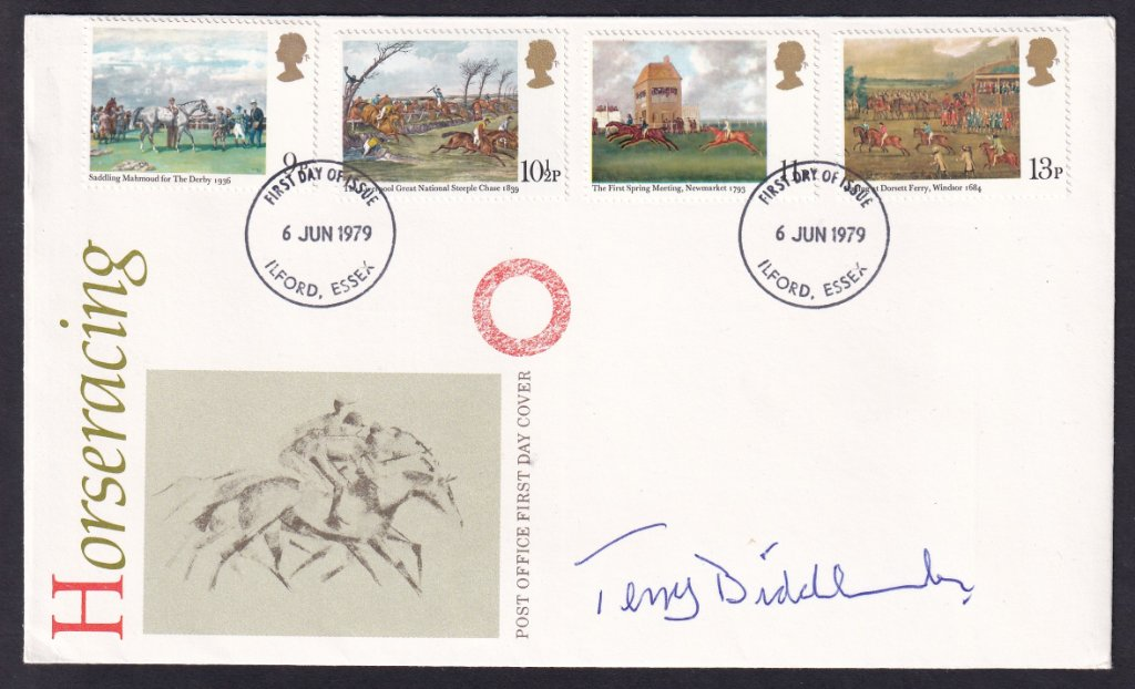 GB FDC 1979 - Horse Racing signed Terry Biddlecomb.jpg
